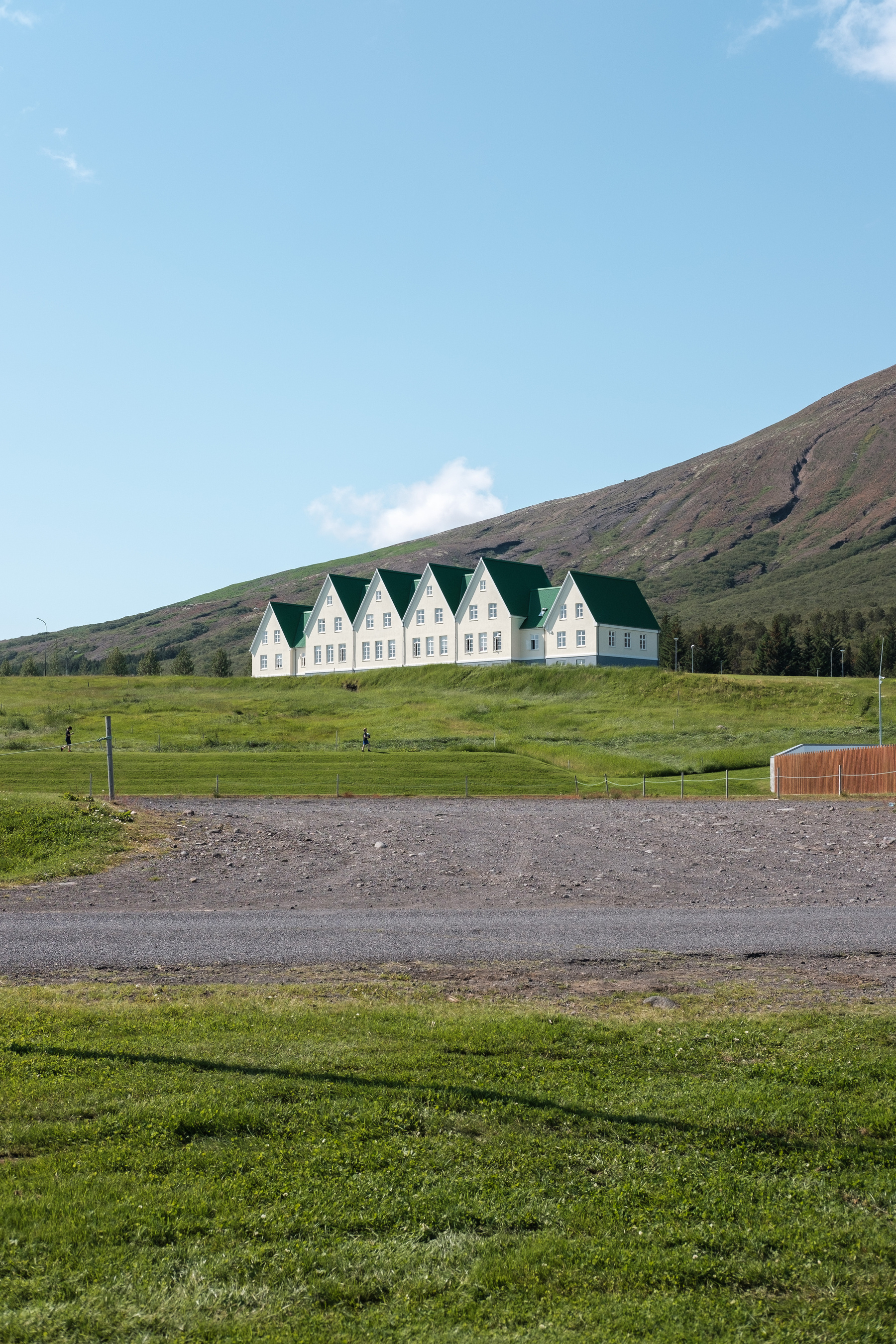 The old boarding school at Laugarvatn, now a hotel