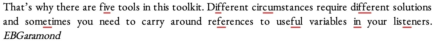 A screenshot of a sample text showing very ugly spacing issues. Literata, which is a readable serif font.