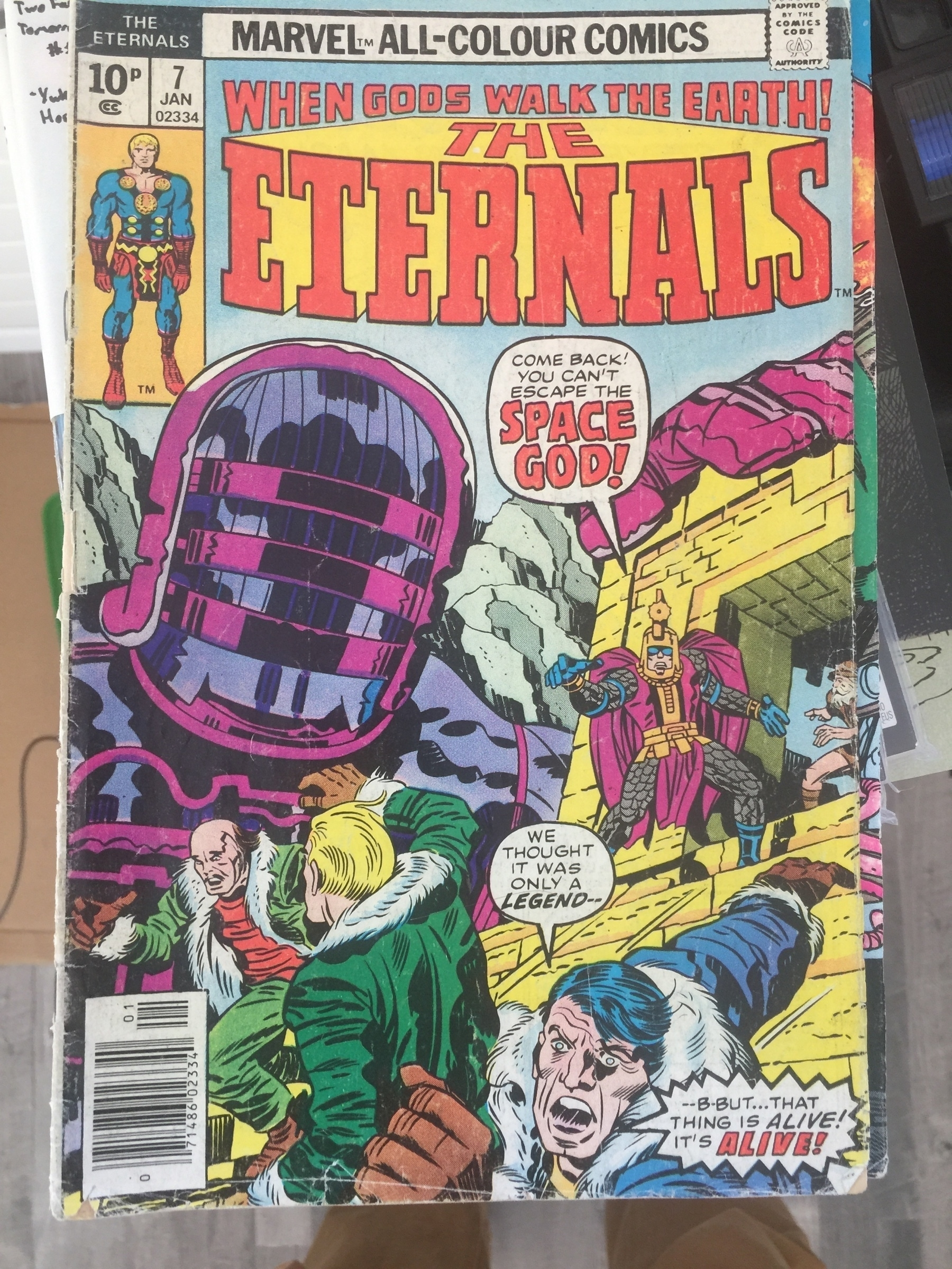 the cover of Jack Kirby Eternals #7